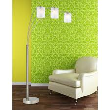 Light Green Leather Sofa Lighting Ideas Arch Tiffany Style Floor Lamps Near Small White