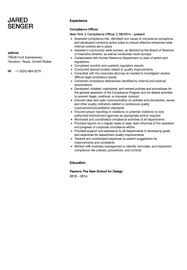 Compliance Analyst Resume Sample by Compliance Officer Resume Sample Velvet Jobs