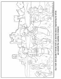 irish castle coloring page irish girl guide coloring page makingfriendsmakingfriends