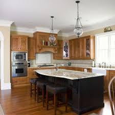 kitchen island colors with wood cabinets stained cabinets with black island color ideas for the