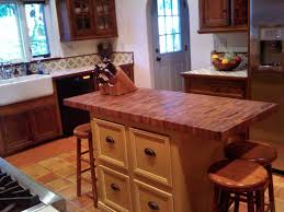 glamorous butcher block top kitchen island with cup drawer pull