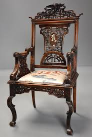 exquisite rare french 19th century japanese style carved walnut exquisite rare french 19th century japanese style carved walnut armchair