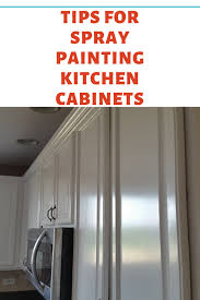 how to paint kitchen cabinets sprayer tips for spray painting kitchen cabinets dengarden