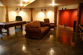 awesome concrete floor ideas basement cool basement floor paint