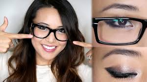 makeup for glasses youtube