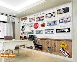 3d bars wallpapers custom 3d vintage wallpaper mural number licence plate traffic