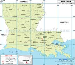 louisiana map in usa latitude and longitude map
