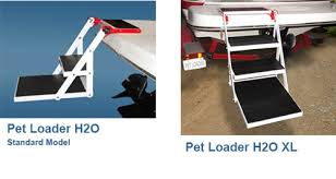 dog stairs and dog ladders for boats pontoon and pools