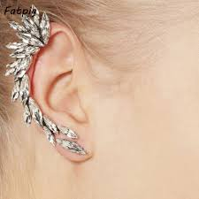 clip on earring online shop hot sale silver plated ear cuff clip earring