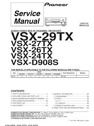 pioneer vsx 24tx 26tx 27tx 29tx d908s sm et printed circuit