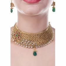 choker gold necklace images Royal choker south indian style one gram gold plated wedding jpg