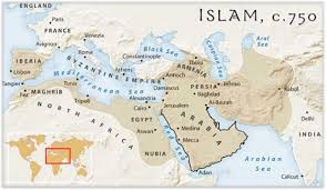 Tehran Map Map Of Islam Ca 750 Christian Heritage Fellowship Inc