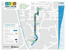Parking Restrictions Los Angeles Map by Ciclavia Glendale Meets Atwater Village Presented By Metro