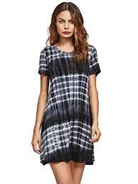 romwe loose casual short sleeve tie dye ombre swing t shirt tunic