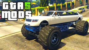 bugatti truck gta 5 pc mods monster truck limo gta 5 car mod youtube