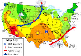 map of weather forecast in us mrs remis earth science 6th grade february 2014
