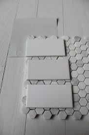 white subway tile bathroom ideas benjamin wickham gray with subway tile hex floor tile we