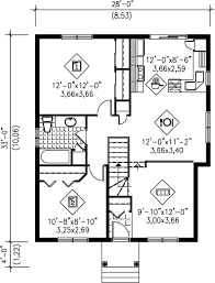 contemporary style house plan 2 beds 1 00 baths 900 sq ft plan