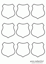 shield 9 badge coloring law enforcement sheriff police