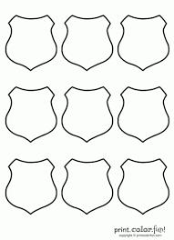 shield set 9 badge coloring law enforcement sheriff police