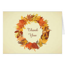 fall leaves thank you note cards zazzle