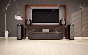 modern living room with home cinema stock photo picture and