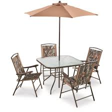 Textilene Patio Furniture by Castlecreek Complete Camo Patio Dining Set 6 Pieces 678094