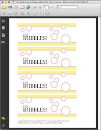 printable free bubble labels for party favors merriment design