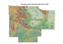 Fremont Zip Code Map by Strong Winds Impacted Much Of Western U0026 Central Wyoming On