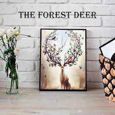 Tactical Home Decor Chri Sales Promotio Sika Deer Canvas Painting Nordic Animals