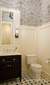 Wallpapered Bathrooms Ideas Love This Moulding Idea With The Wallpaper On Top Adds Interest