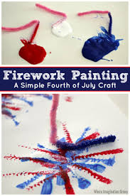 fourth of july craft pipe cleaner firework paintings where