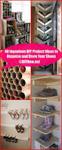 40 ingenious diy project ideas to organize and store your shoes