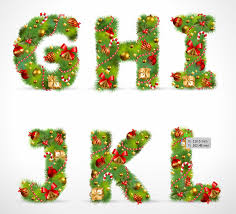 images of christmas letters christmas ornaments composed of letters 02 vector free vector 4vector