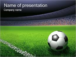 soccer ball and stadium powerpoint template u0026 backgrounds id
