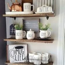 kitchen display ideas rustic farmhouse coffee bar wire basket storage
