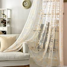 Luxury Grey Curtains Gold And Grey Sheer Window Curtains For Living Room Luxury Organza