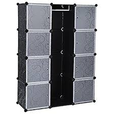 songmics interlocking storage cube organiser clothes wardrobe