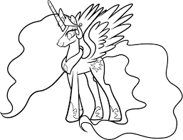 celestia my little pony coloring page my little pony pinterest