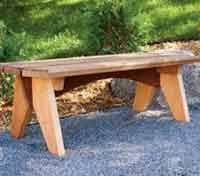 Free Wooden Garden Bench Plans by Over 100 Free Outdoor Woodcraft Plans At Allcrafts Net