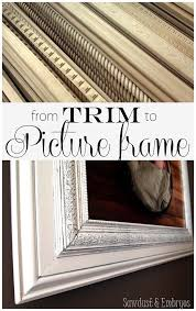 how to build a frame from crown molding for the house