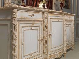 carved sideboard white and gold in louis xvi style vimercati