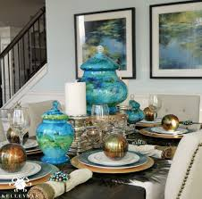 Aqua Dining Room by Peacock Inspired Dining Room And Tablescape Kelley Nan