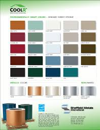 metal roofing color chart architectural features pinterest