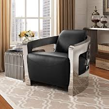 Modern Leather Lounge Chair Modway Eei 2069 Blk Trip Leather Lounge Chair In Black Leather On