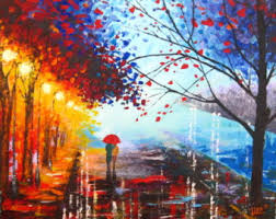 original abstract modern landscape made original abstract painting acrylic a with umbrella