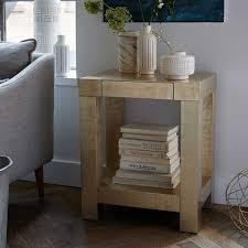 west elm accent table parsons end table west elm furniture pinterest living rooms