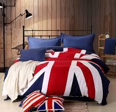 union jack cotton bed sheet set