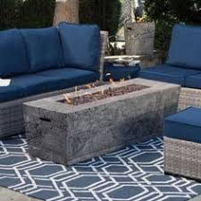 Bar Height Fire Table Rectangular Bar Height Gas Fire Pit Wicker Panel With Cast