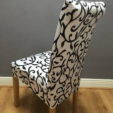 black and white chair covers white black swirl chair cover jf chair covers